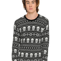RUDE Skull Intarsia Sweater