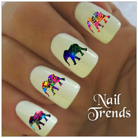 Elephant Nail Decal. 20 Vinyl Stickers Nail Art