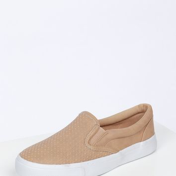 Slip On Sneakers Camel