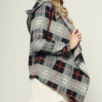 Better With You Plaid Jacket (Navy/Grey)