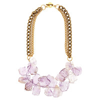 Amethyst Celia Necklace, Bib Necklaces