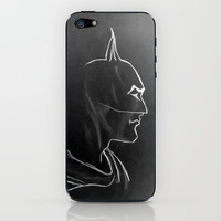 Vintage Batman ~The Dark Knight iPhone & iPod Skin by Bruce Stanfield
