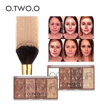O.TWO.O 4 Colors Face Make Up Waterproof Grooming Powder With Pressed Powder Contour Bronzer Blush Blusher Highlighter Shading