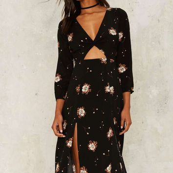 Welcome to the Floral Parade Cutout Dress