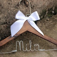 Custome Hanger Bride Wedding Hanger Bridal gift bridal party wire hanger  wedding hanger  Personalized Bridal Wedding Hanger. Bridal Hanger.