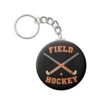 Field Hockey Sticks Key Chains