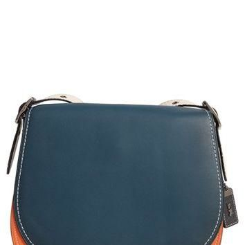 COACH 1941 '23' Colorblock Leather Saddle Bag | Nordstrom
