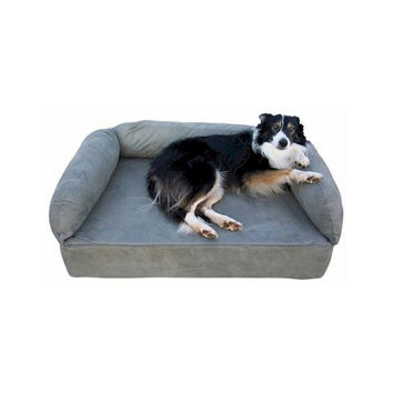 Snoozer Pet Dog Cat Puppy Indoor Comfortable Soft Quilted Luxury Memory Foam Sofa Sleeping Bed Large Denim