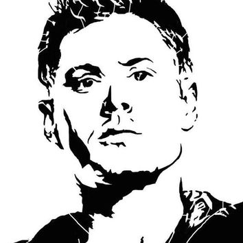 Dim Face Supernatural winchester Vinyl Decal Sticker catholic for Car Laptop MacBook Wall  Preguntar $3.50
