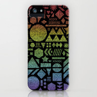 Modern Elements in Spectrum. iPhone Case by Nick Nelson | Society6