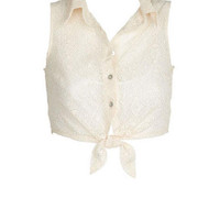 Lace Tie-Front Tank