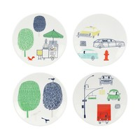 kate spade new york Hopscotch Drive About Town Tidbit Plates, Set of 4