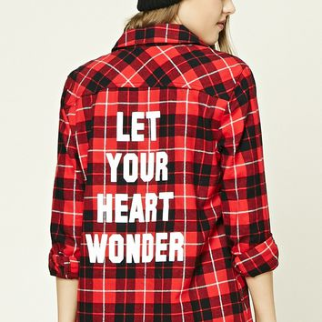 Graphic Plaid Flannel Shirt
