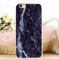 Black White Marble Stone iPhone 7 7 Plus iPhone se 5s 6 6s Plus Case Cover + Gift Box