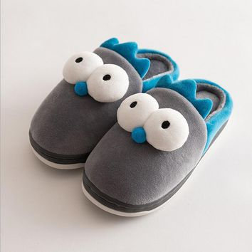 Winter cute Flannel kids slippers Warm Plush baby home slippers boys girls toddler shoes child Flip Flops