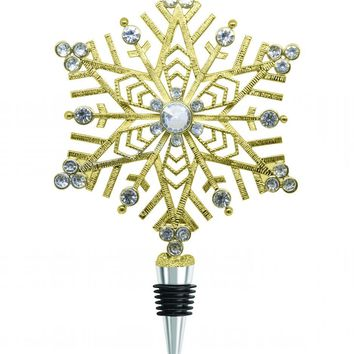 XL Gold Snowflake Wine Bottle Stopper - PRE-ORDER, SHIPS IN NOVEMBER