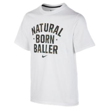 "Nike ""Natural Born Baller"" Boys' T-Shirt Size Medium (White)"
