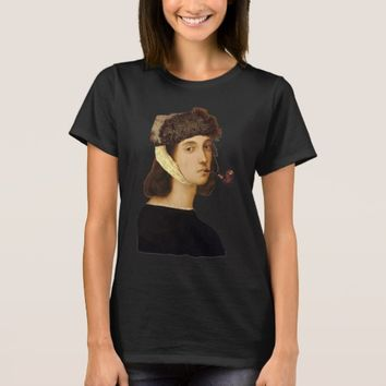 Raphael Self Portrait With Van Gogh Hat And Pipe T-Shirt