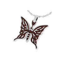 Stainless Steel Tribal Butterfly Pendant with by UnisexySupplies
