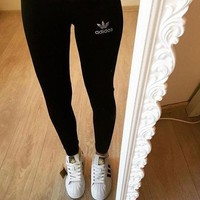 Adidas Women Casual Exercise Fitness Gym Yoga Running Leggings Pants Trousers Sweatpants