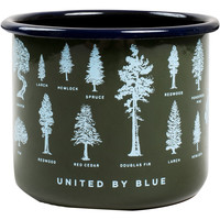 United by Blue 22 oz Evergreen Enamel Steel Cup available from Blackleaf