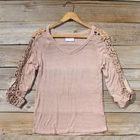 The Maddie Cozy Tee in Sand