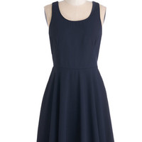 ModCloth Mid-length Sleeveless A-line As the Night Unfolds Dress