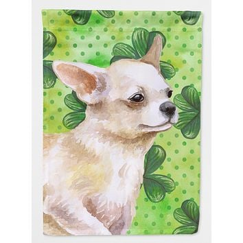 Chihuahua Leg up St Patrick's Flag Canvas House Size BB9871CHF