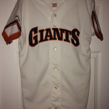 Sale!! Vintage Rawlings sf San Francisco Giants MLB jersey baseball shirt size 42 made