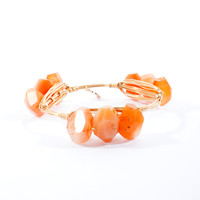 Bourbon and Bowties Triple Apricot Faceted Bangle