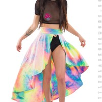 Calypso Skirt in Bubble Tie Dye Velvet
