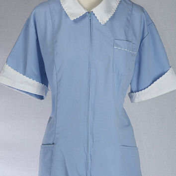 Vintage Waitress Uniform Dress Costume XL Rockabilly Pin-up Halloween