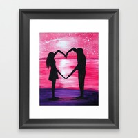 Love Framed Art Print by ahmadillustrations