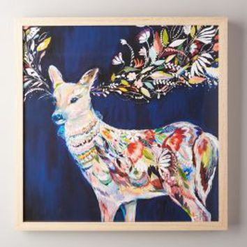 Starla Michelle Halfmann Mooreland Wall Art, Deer in Navy Size: One Size Decor