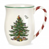 Spode Christmas Tree Mug with Peppermint Handles Set of 4 - Spode UK