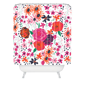 "Vy La Bloomimg Love 1 Shower Curtain Standard 71""x74"" Sample Sale - Standard 71""x74"""