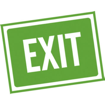 Exit Sign (Green) Plastisol Heat Transfer