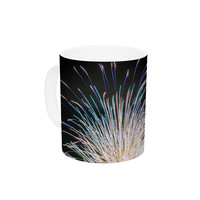 "Jillian Audrey ""Firework"" Black Pastel Ceramic Coffee Mug"