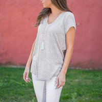 Touch Of Lace Top, Taupe