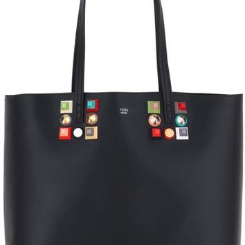 Fendi Roll Studded Calfskin Leather Tote | Nordstrom