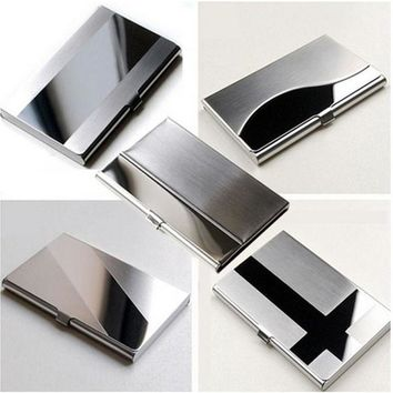 Waterproof Stainless Steel Silver Aluminium Metal Case Box Business ID Credit Card Holder Case Cover