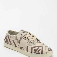 The People's Movement Marcos Drawn Geo Print Sneaker- Black & White