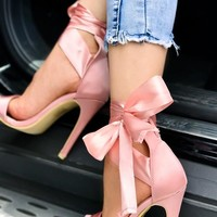 Satin Bow Tie Stiletto