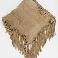 Magical Thinking Suede Fringe Pillow - Urban Outfitters