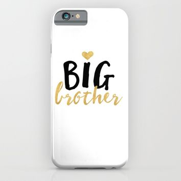 BIG BROTHER sibling love quote iPhone & iPod Case by deificus Art