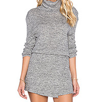 Free People By The Fire Mini Dress in Grey