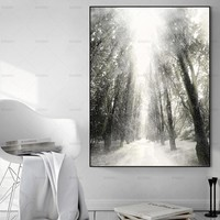 Wall Picture canvas painting  Wall art  snow tree art Picture wall painting art  poster canvas painting print home decoration