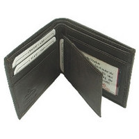 Leather Center Flap Wallet