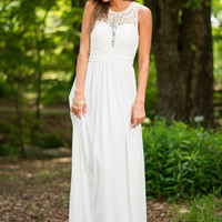 Dive Into Elegance Maxi Dress, White