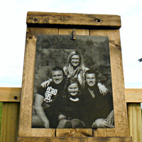 Rustic Picture Frame - Rustic Decor - 8X10 Wall Frame - Rustic Wall Decor